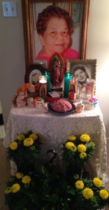Home Altar to  honor my aunt